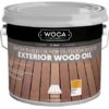 Image of brown wooden decking to show the result of it having been treated with the woca exterior oil