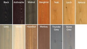 Make Exterior Wood Oil Colours available to customer through a colour panel