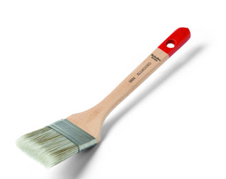 Long handled angled brush