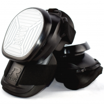 Image of Black and White rubber knee pads