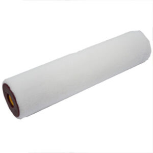 25cm White thick pile microfibre roller sleeve with core insert.