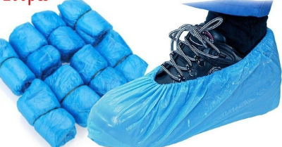 Blue Plastic Disposable Shoe Protectors