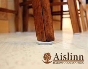 Image of Chair leg resting on Felt Furniture Feet Protection Pad